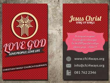 Graphic Design: Church Business Cards