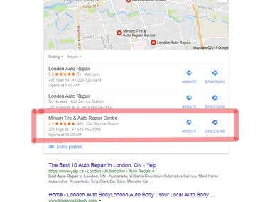 SEO and Google Map Work in Google.co.uk