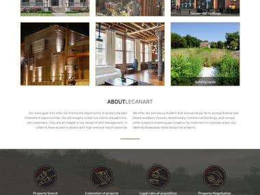 Home and Land rental website