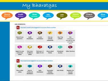 Bharatgas Website
