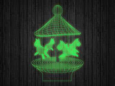 illusion lamp designs and mock-ups