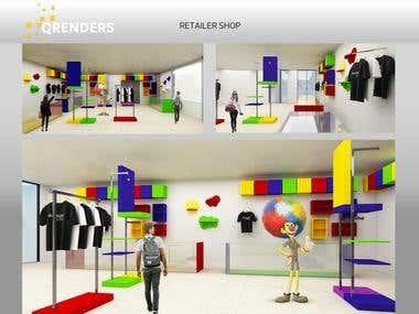 3D Interior Shop Design