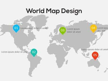 PowerPoint Elements - Maps Infographics Concepts