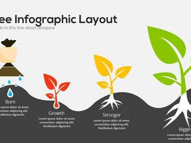 PowerPoint Elements -Trees Infographics Concepts