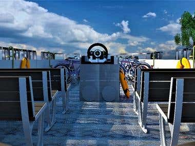 Ferry boat`s Deck