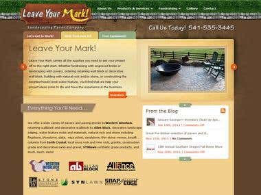 Customized Landscaping Supply WordPress Site and Theme