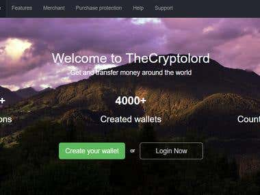 Crypto Currency Wallet, Payment and Exchange System