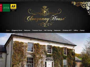 WordPress website for house hotel