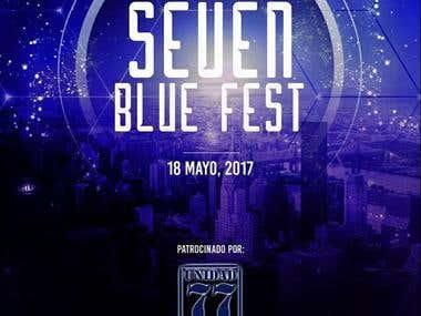 Cuña Seven Blue Fest