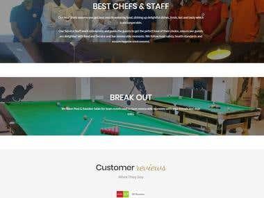 Cafe Utopia Restaurant Website bootstrap + social media