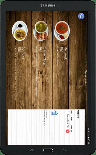 Electronic Menu app for Restaurants