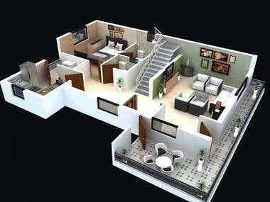 3d Floor Work