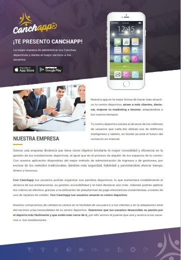 Portafolio, dossier, brochure, presentación de ventas