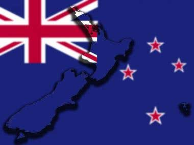 Flag of New Zealand designed.