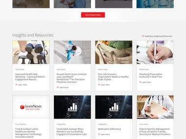 Healthcare Solutions website