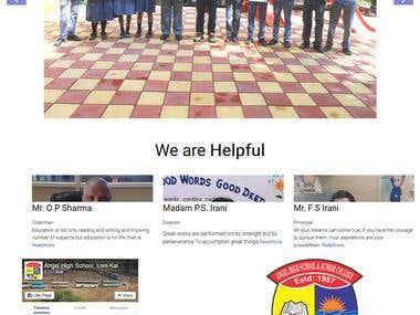Responsive Mobile compatible school website