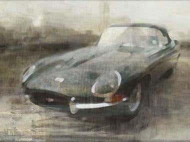 Motoring art Ilustration