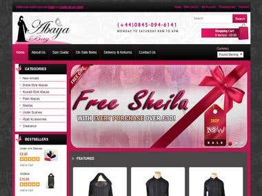 Full website design (on-line Islamic cloths shop)