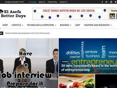 Elasefa Portal Web development