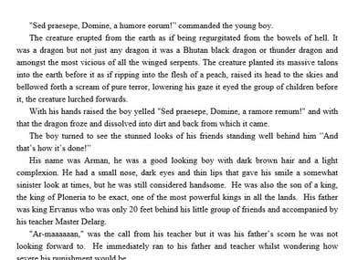 Fantasy novel - Chapter rewrite