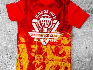 ILOCOS SUR BADMINTON CLUB T-SHIRT DESIGN