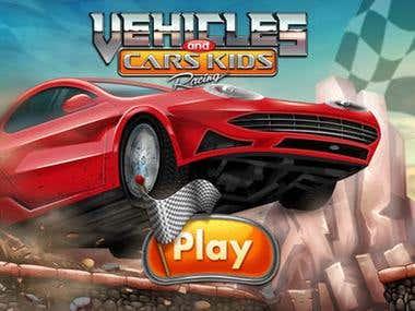 VEHICLES AND CARS KID RACING