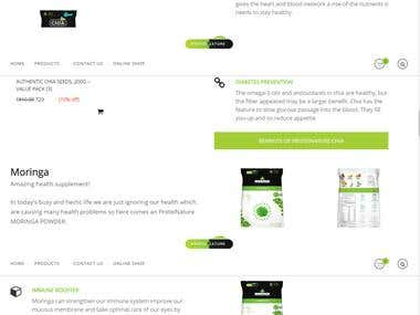 Protein nature wordpress website