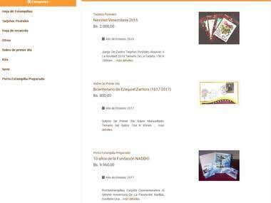 Tienda Virtual Filatélica - Venezuela
