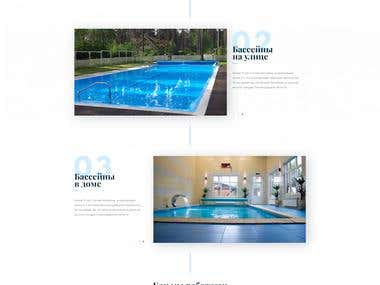Landing Page - Design and construction of swimming pools