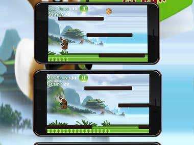 Shifu Run Kungfu Panda UNITY3D (Design & Development)
