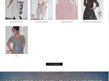 Beautiful E-commerce Website for Boutique owner