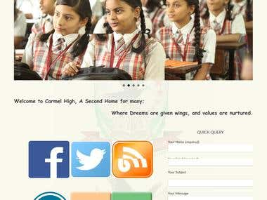 Another beautiful school website, (mobile compatible)
