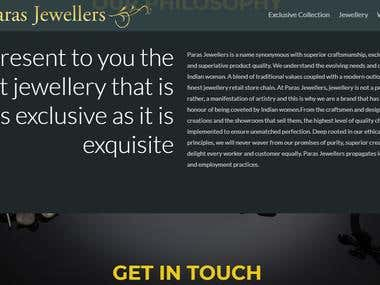 Website Design and development -parasjewellersmeerut.com