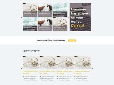 Develop a Bootstrap Website of 6 .psd Webpage Designs