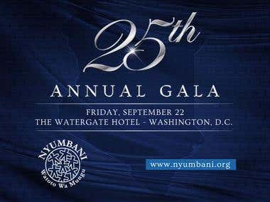 Invitation for gala