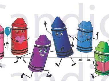 Crayon Line Up