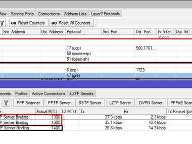 Vpn Configuration with IpSec, L2TP and PPTP