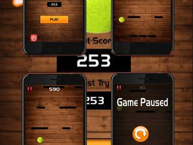 Crazy Ball Star Android App (Design & Development)