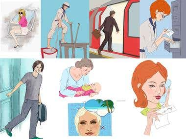 Phrasal verbs illustrations