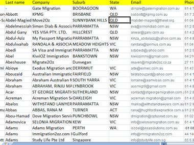 Migration agent data base