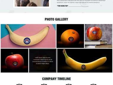 Fruits & Vegetable Corporate Homepage