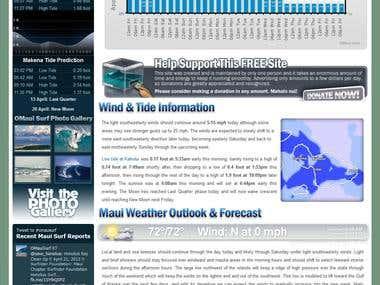 OMaui Web Site