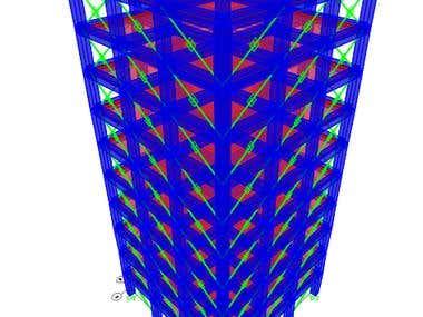 Dampers Seismic Analysis in 10 stories R.C. Building