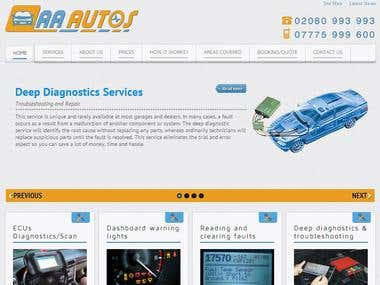 Full website design (auto-mobile diagnostic)