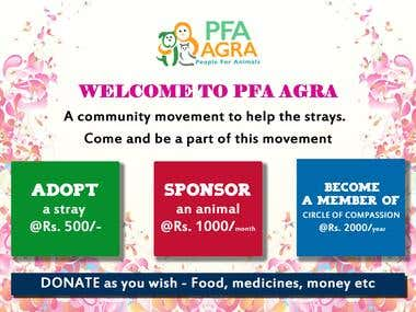 banner design for pfa agra