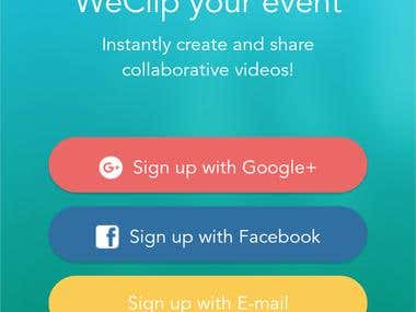 WeClip Event Management App