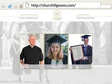 http://www.churchillgowns.com - Magento Website