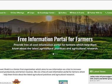 Farmer's Portal - Kissan Shakti