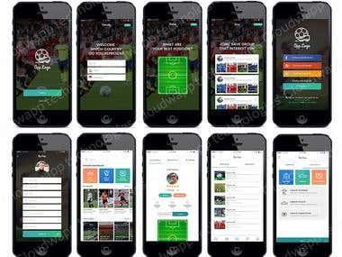 FOOTBALL APPLICATION- IOS & ANDROID