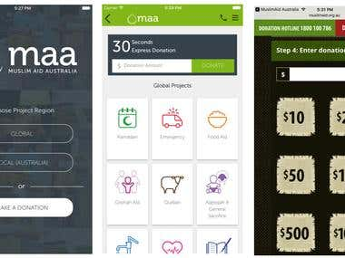Muslim Aid Australia IOS and Android Apps